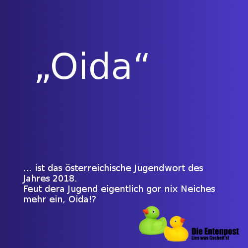Oida Jugendwort 2018