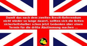 Union Jack mit Tipp für Briten