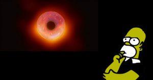Homer Simpsons Assoziation zur ersten Aufnahme eines Schwarzen Lochs