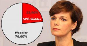 Anteil der SPÖ-Wähler bei der EU-Wahl