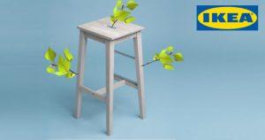 Ikea-Barhocker Bosse mit Birkenzweigen
