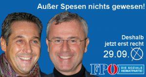 FPÖ-Wahlplakat mit Hofer & Strache