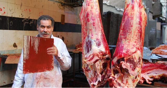 Fleischer mit echtem Nitsch