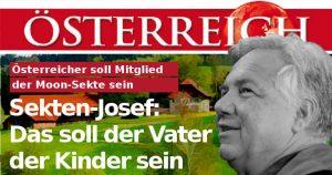 Sekten-Josef in der Zeitung Österreich