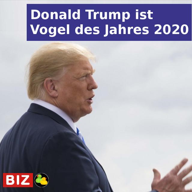 Donald Trump ist Vogel des Jahres 2020