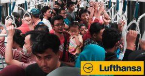 Stehplätze bei Lufthansa sollen ökologischen Fußabdruck verbessern
