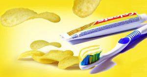Colgates Zahnpaste mit Chips-Geschmack