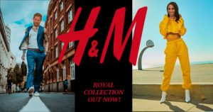 Royales H&M Werbeplakat