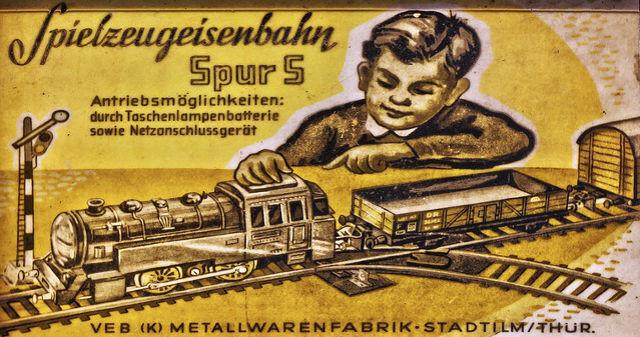 Einer der ersten Werbebanner in Farbe