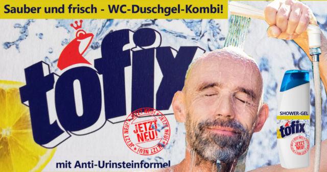 WC-Duschgel-Kombi von Tofix