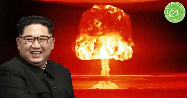 Kim jong-un stolz mit weltweit erster CO2-neutraler Atombombe