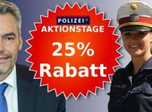 'Scharfe Aktion' der Polizei statt 'Aktion scharf'