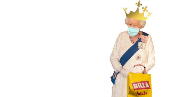MNS-Maske getragen: Queen bricht sich bei Billa-Einkauf Zacken aus Krone